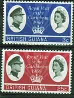 British Guiana 1966 Set Of Stamps To Celebrate Royal Visit. - British Guiana (...-1966)