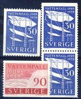 +B1512. Sweden 1959. Water Energy. Michel 446-47. MH(*)/MNH(**) - Ongebruikt