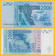 West African States 2000 Francs Benin (B) P-216Bi 2014 UNC - Estados De Africa Occidental