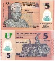 Nigeria - 5 Naira 2014 UNC Polymer Lemberg-Zp - Nigeria