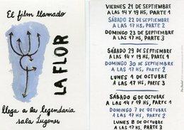 EL FILM LLAMADO LA FLOR LLEGA A LA LEGENDARIA SALA LUGONES ARGENTINA VIA POSTAL MODERNA MODERN YEAR 2018 - LILHU - Reclame
