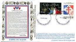 Thème Général De Gaulle - Bureau Temporaire Colombey Les 2 Eglises Du 18 Juin 2006 - X 423 - De Gaulle (Generale)