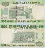 Rwanda - 500 Francs 2008 UNC Lemberg-Zp - Ruanda