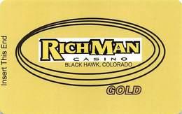 RichMan Casino - Black Hawk, CO - Gold Slot Card - Casino Cards