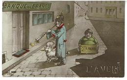 Banque De France- Humour- Militaria -casque A Pointe-... - Banques