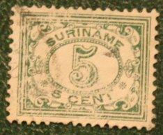 5 Ct Cijfer NVPH 78 (Mi 83) 1922 1913-1931 Used / Gestempeld  SURINAME / SURINAM - Surinam ... - 1975