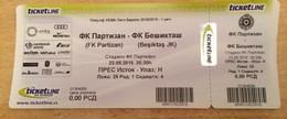 Football Partizan Belgrade Vs Besiktas   Ticket 23. 08. 2018. - Match Tickets