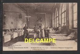 DD / GUERRE 1914-18 / IS-SUR-TILLE (CÔTE-D'OR) / INTÉRIEUR DE L' HÔPITAL TEMPORAIRE / MALADES SOIGNANTS ET PRÊTRE / 1915 - War 1914-18