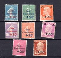 1927-29   France, Caisse D'Amortissement, 246/248 - 249/251 - 254 / 55*, Cote 240 €, - Neufs