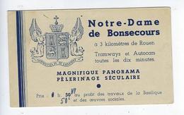 Rare Environs De Rouen Vignettes Carnet De 8 Vignettes Timbres Basilique Notre Dame De Bonsecours Publicité Financement - Fantasy Labels