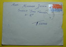 1971 ALBANIA Airmail Cover Sent From Cerrik To Tirana, Stamp: 6'th Congres PPSH 25q, Seal: Cerrik & Tirana, RARE - Albania