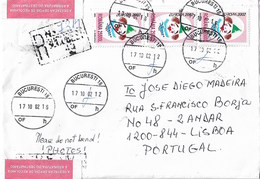 Romania Registered Cover To Portugal With Europa CEPT Circus Stamps - Lettres & Documents
