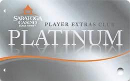 Saratoga Casino - Black Hawk, CO USA - BLANK Slot Card - Casino Cards