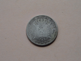 1868 - 2 Francs / KM 30.1 ( Voir Photo Svp / Uncleaned Coin / For Grade, Please See Photo ) ! - 1865-1909: Leopold II