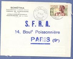 1514 POINT NOIRE Congo Lettre 13 8 61 - Oblitérés