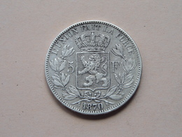 1870 - 5 Francs / KM 24 ( Voir Photo Svp / Uncleaned Coin / For Grade, Please See Photo ) ! - 09. 5 Francs