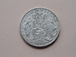 1875 - 5 Francs / KM 24 ( Voir Photo Svp / Uncleaned Coin / For Grade, Please See Photo ) ! - 09. 5 Francs
