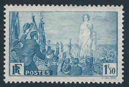 FRANCE 1936 - Yvert N°328 - Universel Pour La Paix - 1 F. 50 Bleu - NEUF** - TTB Etat - Nuovi
