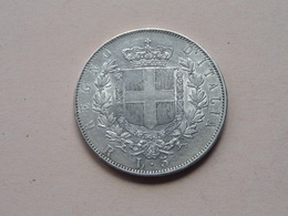 1876 R - 5 Lire / KM 8.4 ( Voir Photo Svp / Uncleaned Coin / For Grade, Please See Photo ) ! - 1861-1946 : Royaume