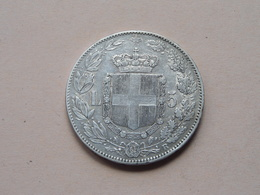 1879 R - 5 Lire / KM 20 ( Voir Photo Svp / Uncleaned Coin / For Grade, Please See Photo ) ! - 1861-1946 : Royaume