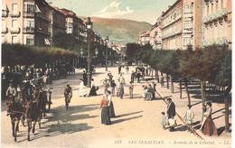 POSTAL   SAN SEBASTIAN  - ESPAÑA  -AVENIDA DE LA LIBERTAD - Guipúzcoa (San Sebastián)
