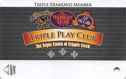 Midnight Rose/JP McGills/Brass Ass Casinos CO - Triple Play Card - Cpi 2045751 Over Mag Stripe - Casino Cards