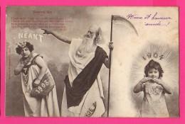 CPA  (Réf : (PA189)  Nouvel An Bonne Et Heureuse Année 1904     Bergeret - Nouvel An