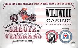 Wildwood Casino - Cripple Creek CO - BLANK Veterans Slot Card Special Edition - Casino Cards