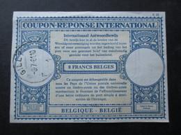 COUPON REPONSE INTENATIONAL (M1818) BELGIQUE 8 Francs Belges (2 VUES) GILLY 1961 - Cupón-respuesta Internacionales