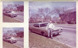 MAN OLD CARD GREEN HOMBRE AUTO VERDE ANTIGUO FOTO PHOTO COLOR SIZE 10X15.5 -LILHU - Cars