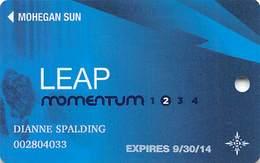 Mohegan Sun Casino - Uncasville, CT USA - Core Momentum Slot Card - 1.800.346.6238 & 1.888.777.2464 Phone#s - Casino Cards