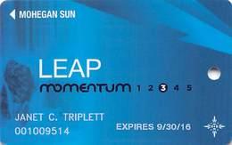 Mohegan Sun Casino - Uncasville, CT USA - Leap Momentum Slot Card - 1.800.522.4700 & 1.888.777.2464 Phone#s - Casino Cards