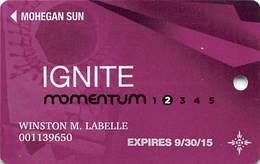 Mohegan Sun Casino - Uncasville, CT USA - Ignite Momentum Slot Card - 1.888.789.7777 & 1.888.777.2464 Phone#s - Casino Cards