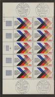 Bloc De 10 Timbres Coopération Franco Allemande N°1739 (bord De Feuille, Oblitération 1er Jour Dans Les Mages) - Ongebruikt