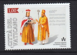 4.- VATICAN CITY 2017 JOINT ISSUE VATICAN CITY - LITHUANIA DIOCESI SOMOGIZIA - Ungebraucht