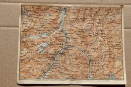 Carte BAEDEKER 1907, Glarus (Glaris, Suisse) - Geographische Kaarten