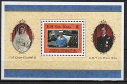 South Georgia 1997 Mini Sheet To Celebrate The Golden Wedding. - South Georgia