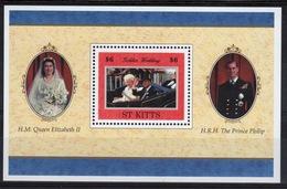 St Kitts 1997 Mini Sheet To Celebrate The Golden Wedding. - St.Kitts And Nevis ( 1983-...)