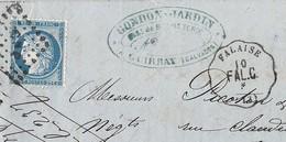 N°60 Sur Convoyeur Station De Falaise Vers Lyon 10 Août 1874 - 1849-1876: Classic Period