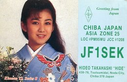 QSL CARD RADIOAFICIONADOS/RADIO HAM JF1SEK CHIBA JAPAN ASIA ZONE 25 YEAR 1988 - LILHU - Radio