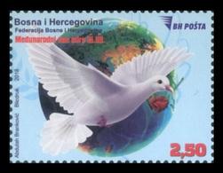 Bosnia And Herzegovina 2018 Mih. 748 International Day Of Peace. Fauna. Birds. Pigeon MNH ** - Bosnien-Herzegowina