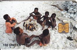 MADAGASCAR - Cooking Children 2, Chip OB1, Tirage 50000, Used - Madagascar