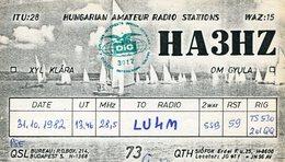 QSL CARD RADIOAFICIONADOS/RADIO HAM HA3HZ BUDAPEST YEAR 1982 - LILHU - Radio-amateur