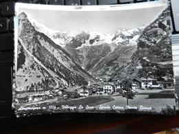 19061) VALLE D'AOSTA COURMAYEUR VILLAGGIO LA SAXE CATENA MONTE BIANCO VIAGGIATA 1958 - Altre Città