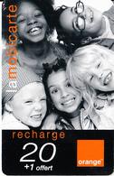 REUNION - Children, Orange Recharge Card 20 Euro, 11/01, Used - Reunion
