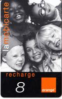 REUNION - Children, Orange Recharge Card 8 Euro, 04/02, Used - Reunion