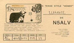 QSL CARD RADIOAFICIONADOS/RADIO HAM N5ALV TEXAS EEUU YEAR 1979 - LILHU - Radio-amateur