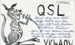QSL CARD RADIOAFICIONADOS/RADIO HAM VK4A0W AUSTRALIA YEAR 1989 - LILHU - Radio-amateur