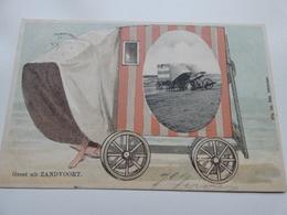 Ansichtkaart, Zandvoort, Kleedcabine, 21 Juli 1904 + 2 Stempels Met Datum. - Zandvoort
