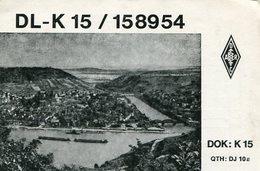 QSL CARD RADIOAFICIONADOS/RADIO HAM DL-K 15 / 158954 MENDOZA ARGENTINA YEAR 1978 - LILHU - Radio-amateur